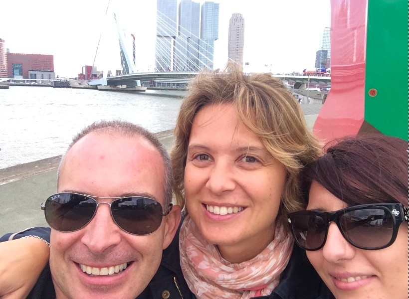 Angelica, Cristina e Bernhard a Rotterdam per la III Conferenza Internazionale sull'Atresia Esofagea