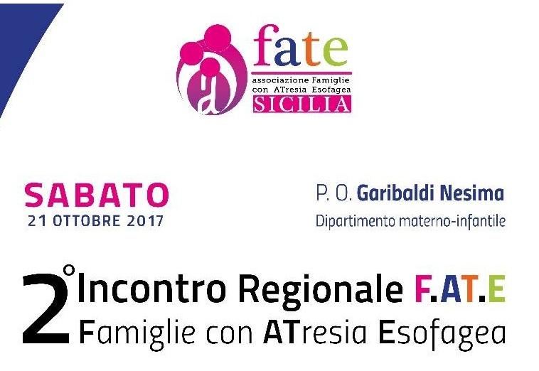 21 ottobre 2017 – Secondo Incontro Regionale (Sicilia) dell'Associazione F.AT.E.. Programma dettagliato