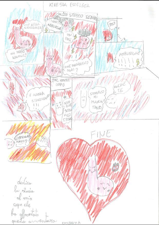 Una bambina ci spiega l'avventura dell'AE con un fumetto