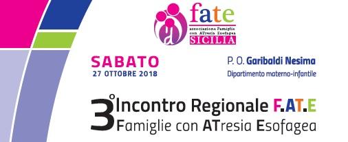 27 ottobre 2018 – Terzo Incontro Regionale (Sicilia) dell'Associazione F.AT.E. – Programma dettagliato