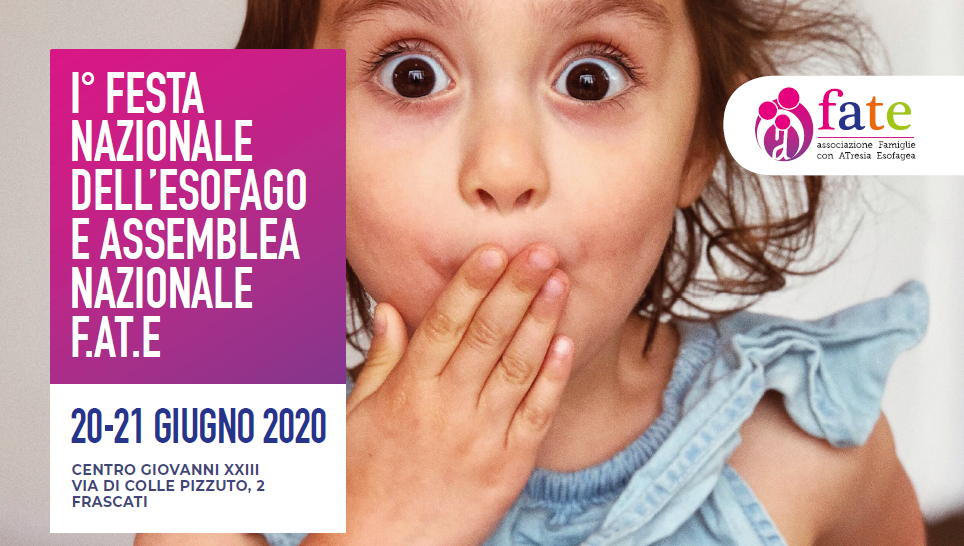 La locandina della Prima Festa Nazionale dell'Esofago è on line!